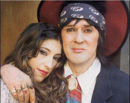 Izzy Stradlin with mysterious, Wife Elena Isbell