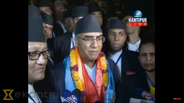 Sher Bahadur Deuba elected 40th PM of Nepal