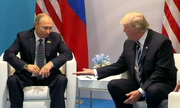 Upper hand: Trump and Putin's body language shows who's the boss   John Crace