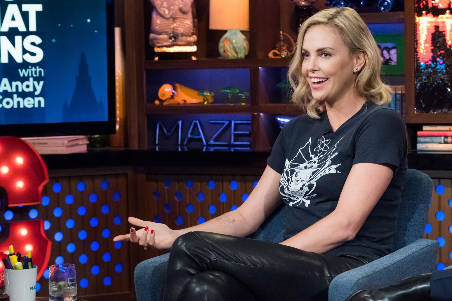 Charlize Theron Admits She Swam In the 'Lady Pond' When She Was Young