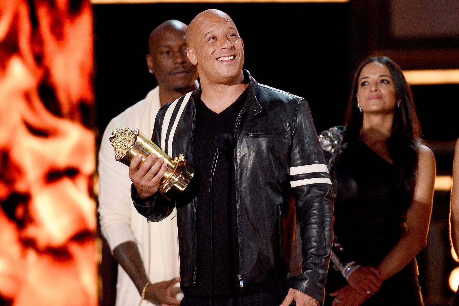 Vin Diesel Honors Paul Walker During MTV Generation Award Speech for Fast & Furious:        We Hope You        re Proud