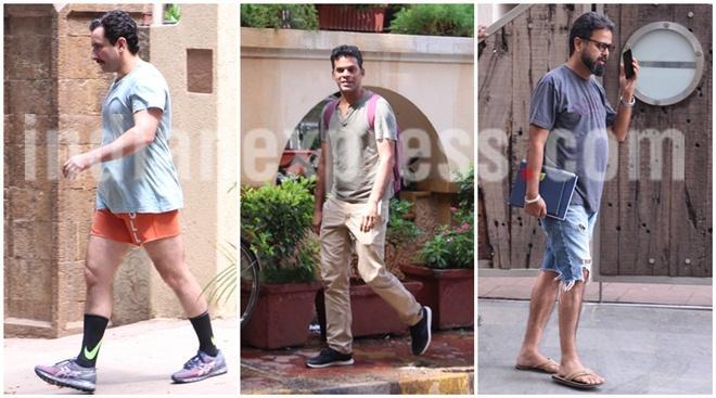 Saif Ali Khan spotted in boxers, wife Kareena Kapoor Khan works out with her best friend Amrita Arora