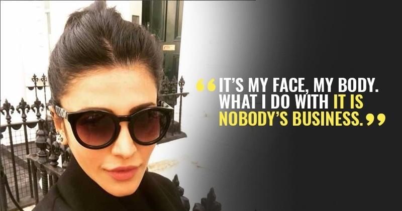 Shruti Haasan Shuts Down Lip Job Rumours, Says She Is Not Answerable To Anyone