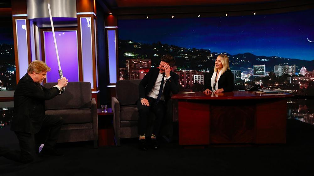 Watch Mark Hamill Surprise        Star Wars      '  Superfan Adam Scott on        Jimmy Kimmel Live