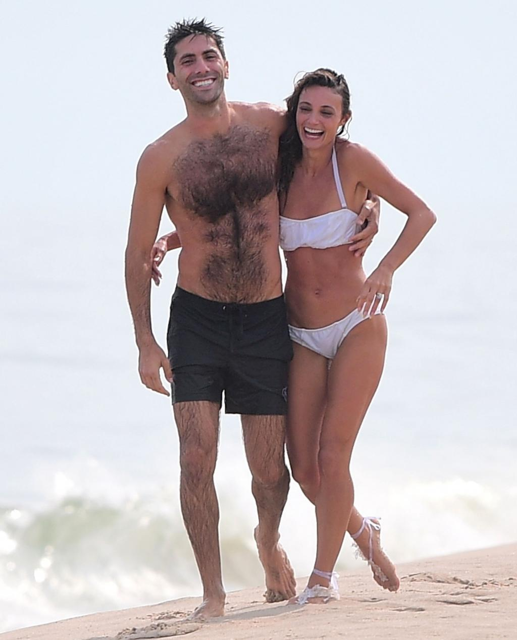 Catfish's Nev Shulman and His New Bride Frolic in the Ocean After Their Nuptials