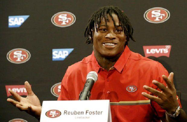 Reuben Foster, 49ers Agree to 4-Year Rookie Contract