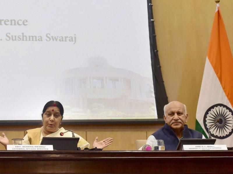 PM Narendra Modi-Nawaz Sharif SCO talks unlikely, says Sushma Swaraj - Times of India