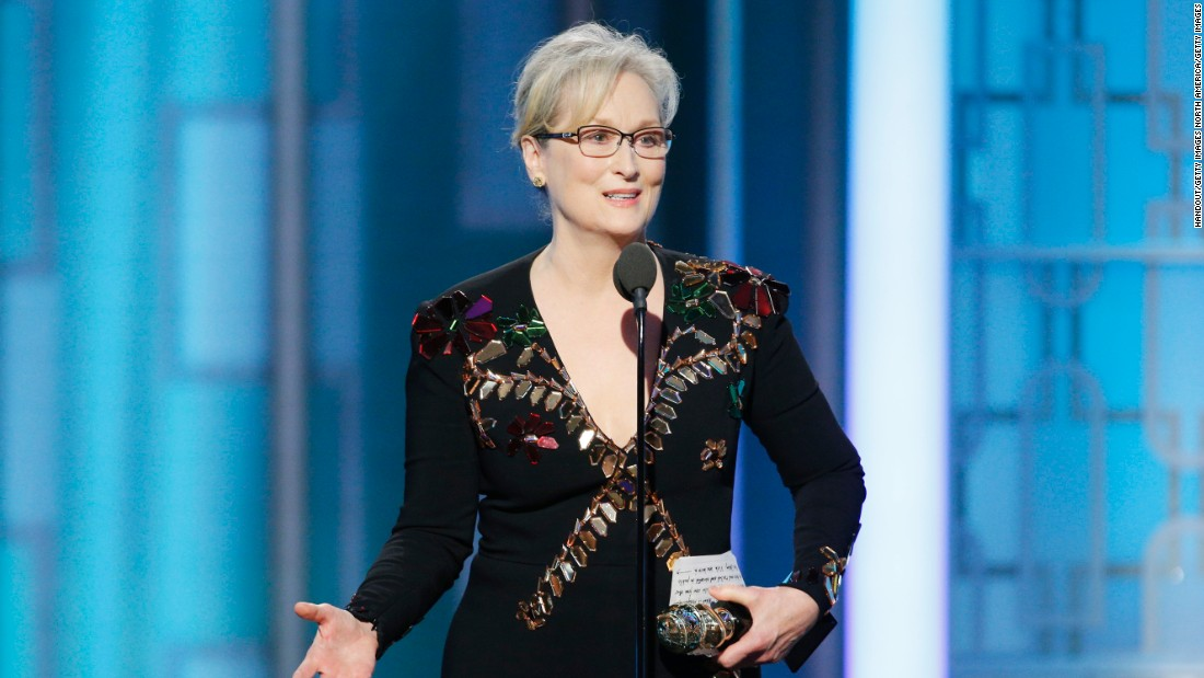 Meryl Streep attacks Trump in Golden Globes acceptance speech (Video)