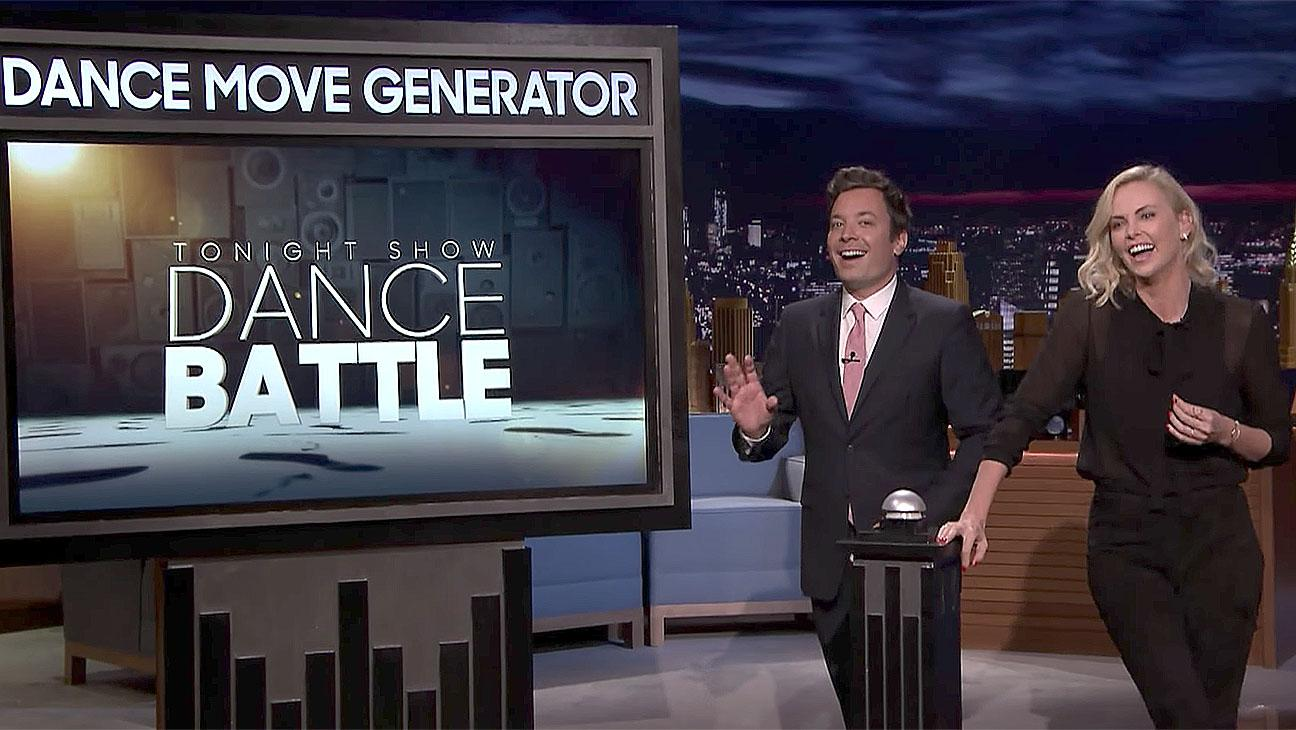 Charlize Theron Skillfully Dance Battles With Jimmy Fallon