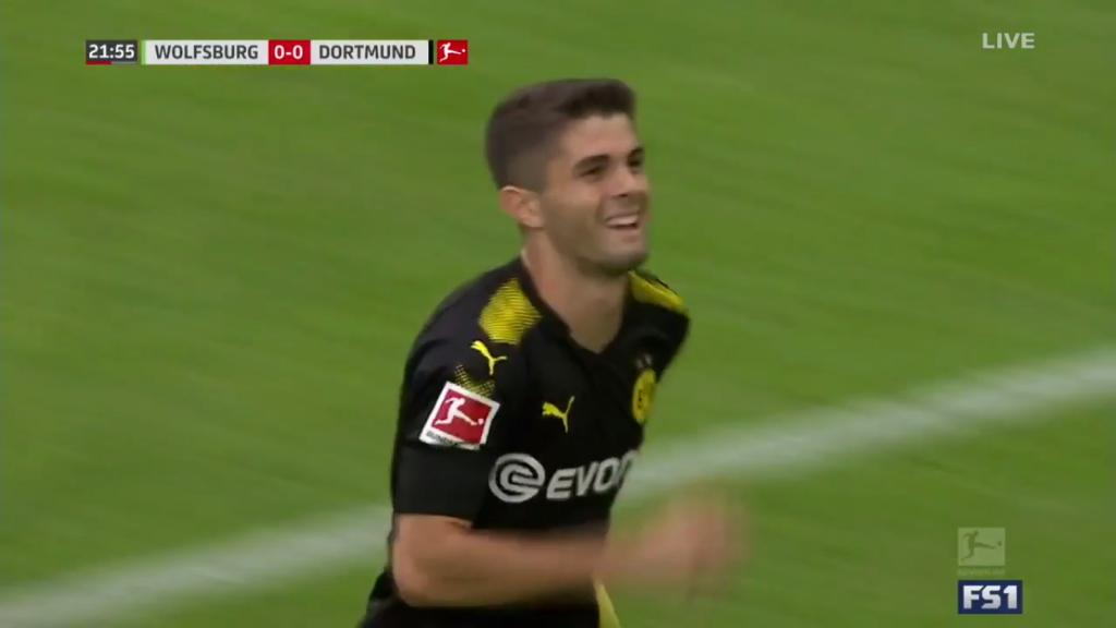 Christian Pulisic helps Dortmund to big Bundesliga win at Wolfsburg