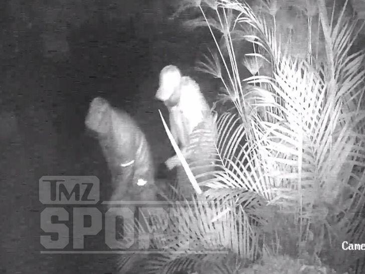 Byron Scott Burglary: Cameras Capture Two Men In Bushes