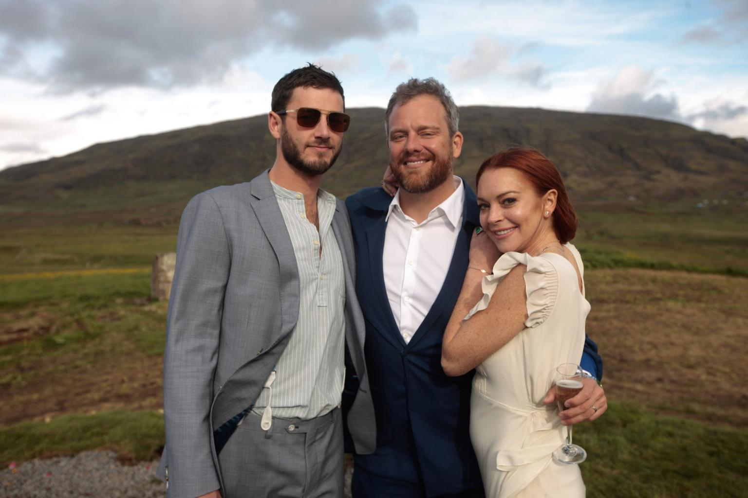 What a Beautiful Day with Beautiful People       ': Lindsay Lohan Attends Friend       's Wedding in    Iceland