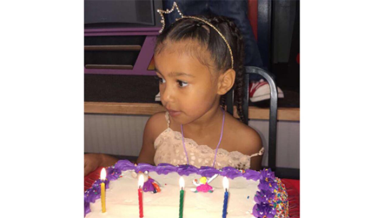 North West Celebrates Her Fourth Birthday With Giant Balloon Display and Colorful Cake: Pics!