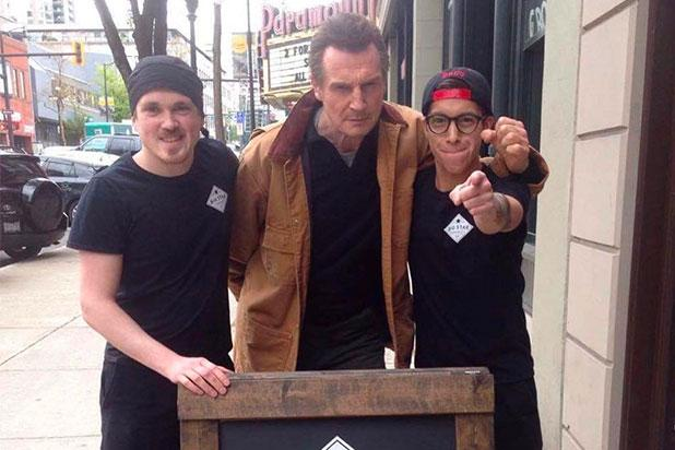 Liam Neeson Surprises Sandwich Shop After It Offers Him Free Food (Photo)