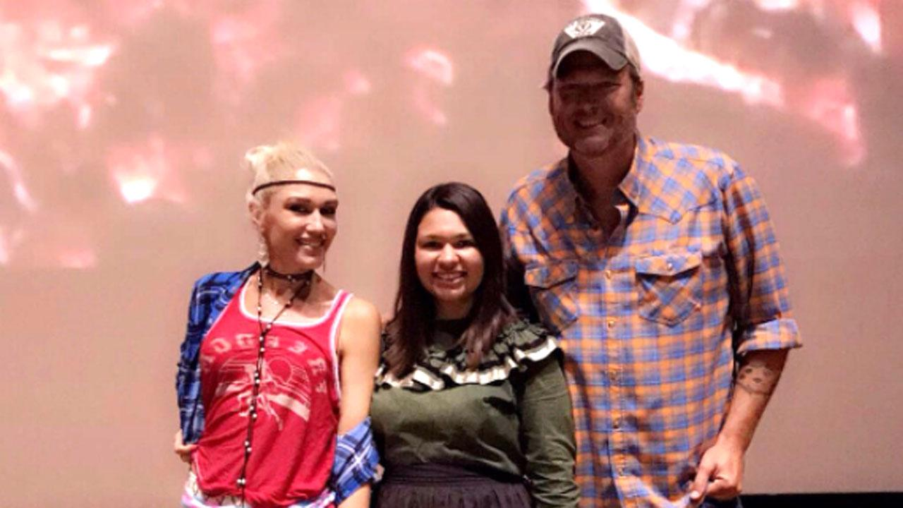 Gwen Stefani Sports Native American Garb While Visiting Reservation With Blake Shelton