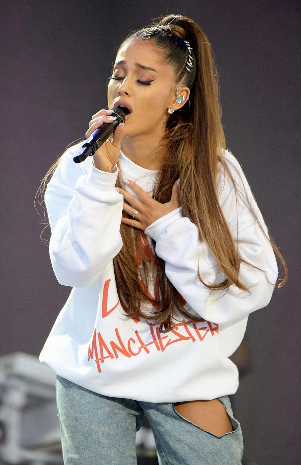 Ariana Grande Takes the Stage at Manchester Benefit Concert  '  12 Days After Deadly Attack