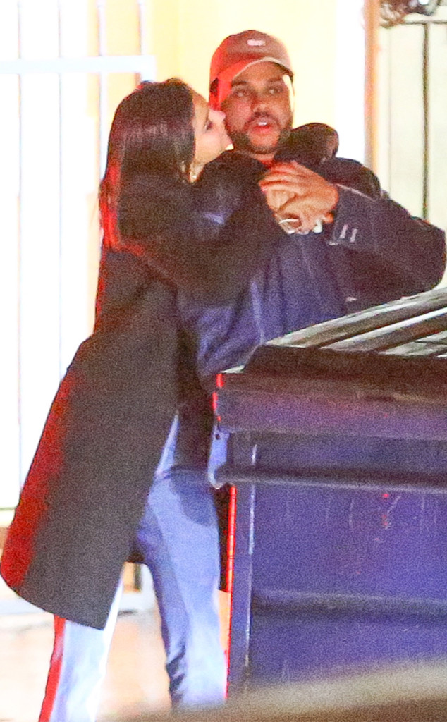 Selena Gomez and The Weeknd Caught Kissing on Romantic Date Night
