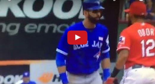 Rougned Odo FIGHTS Jose Bautista - Texas Rangers vs Toronto Blue Jays - VIDEO
