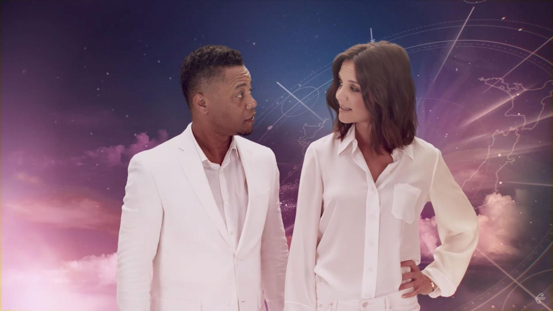Katie Holmes and Cuba Gooding Jr. Are the Stars of a Super Chill New In-Flight Safety Video