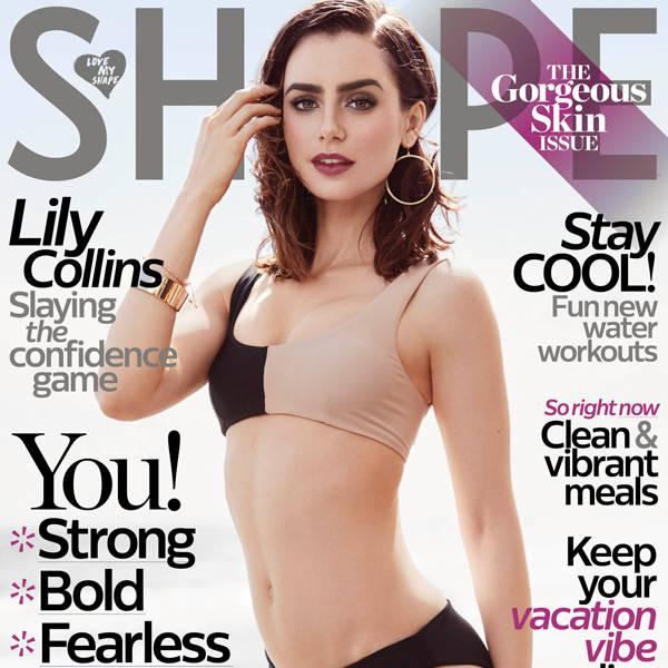Lily Collins Opens Up About Past Eating Disorders and a New Sense of Body Pride in Shape Magazine