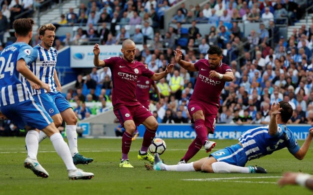 Brighton 0 Manchester City 2: Pep Guardiola's side too good for stubborn Seagulls