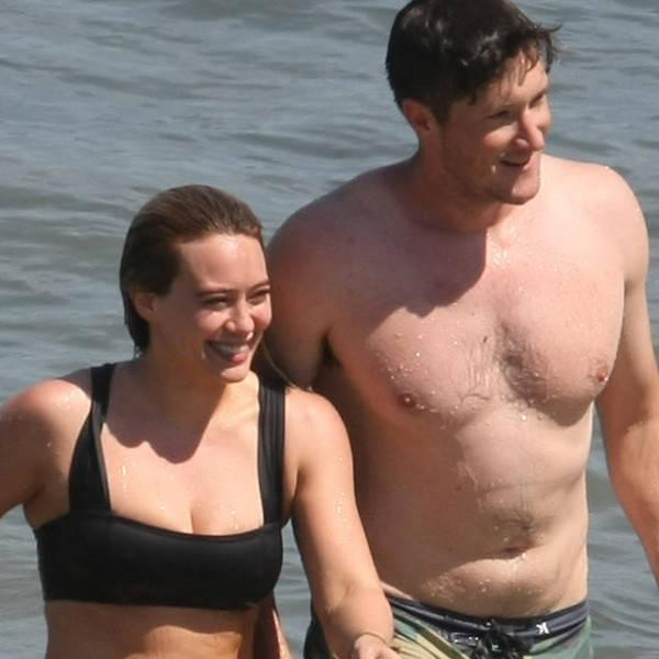 Hilary Duff Packs on the Pda at the Beach With Ely Sandvik
