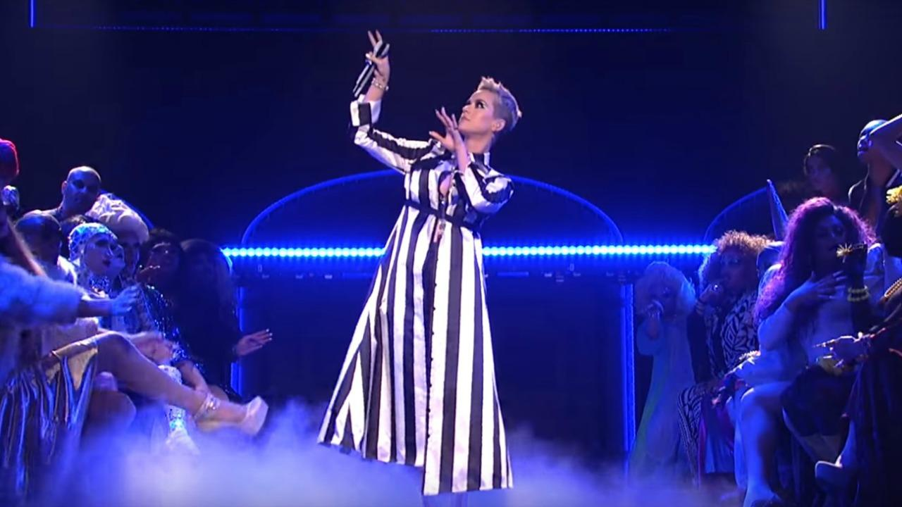 Katy Perry Delivers Wild, Surreal Performances of 'Swish Swish' and 'Bon Appetite' on 'SNL' Season Finale