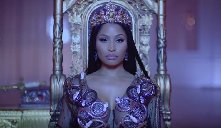 Nicki Minaj Takes The Throne In New Video For 'No Frauds', Featuring Drake, Lil Wayne