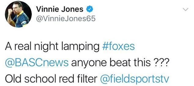 Ex-football star Vinnie Jones posts photo of 100 foxes he shot dead