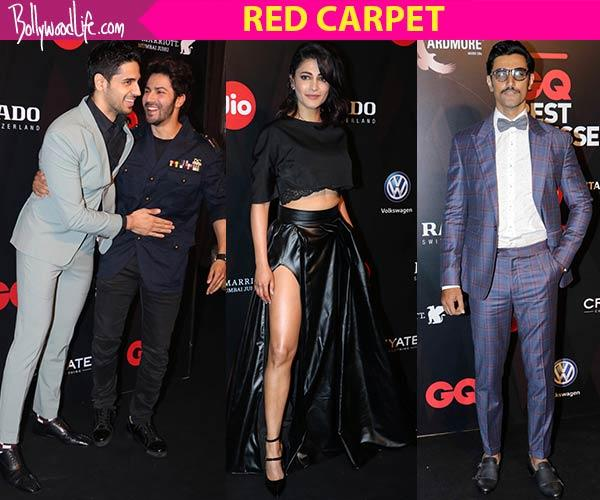 GQ Best Dressed 2017: Sidharth Malhotra, Varun Dhawan, Shruti Haasan, Kunal Kapoor - meet the finest and worst on the red carpet