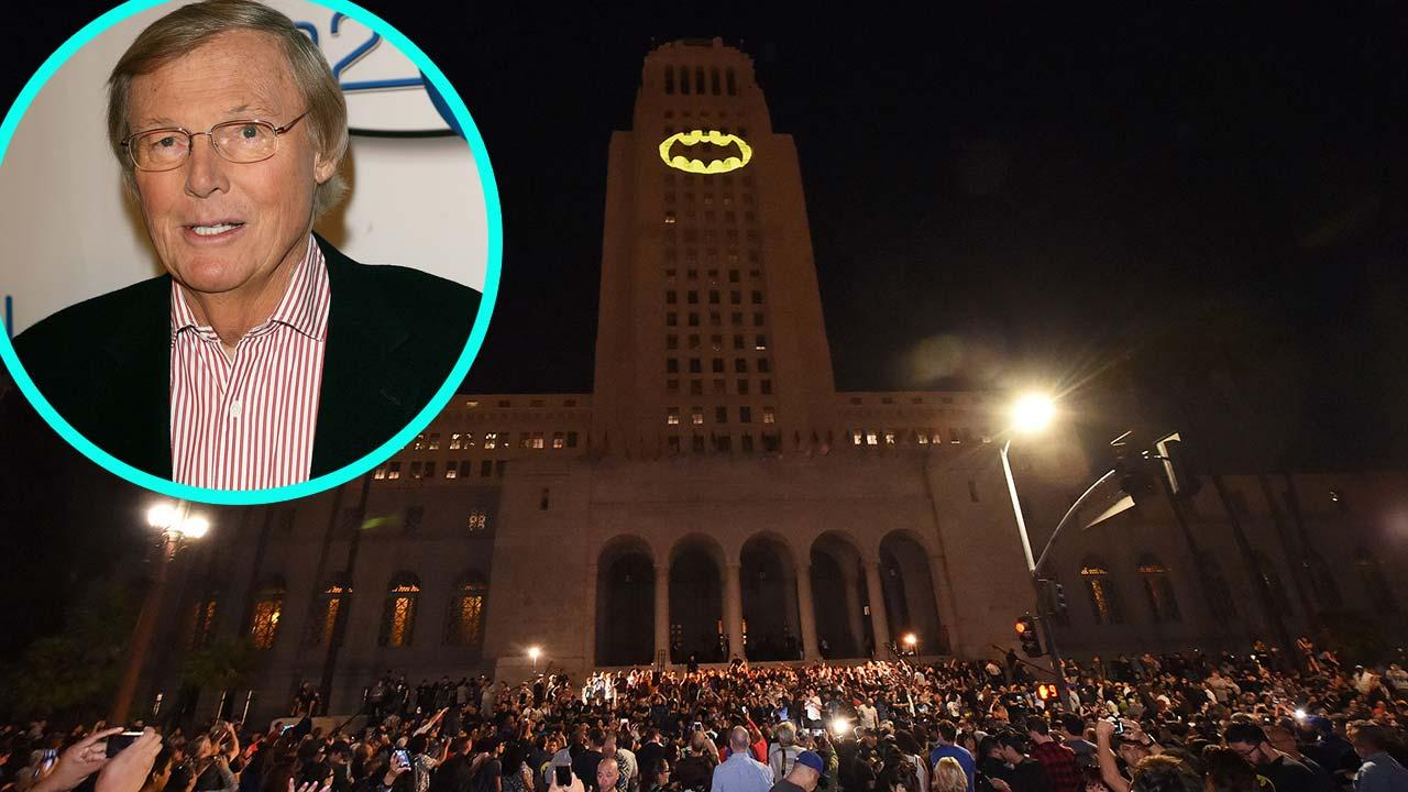 Los Angeles Lights the Bat-Signal in Honor of the Late Adam West