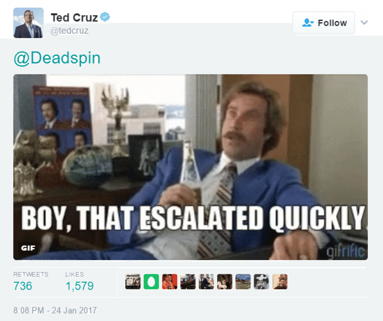 Ted Cruz makes Grayson Allen joke and wins Twitter war with Deadspin