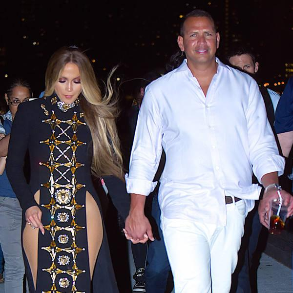 Jennifer Lopez and Alex Rodriguez Show Sweet Pda at Macy's 4th of July Firework Show Taping