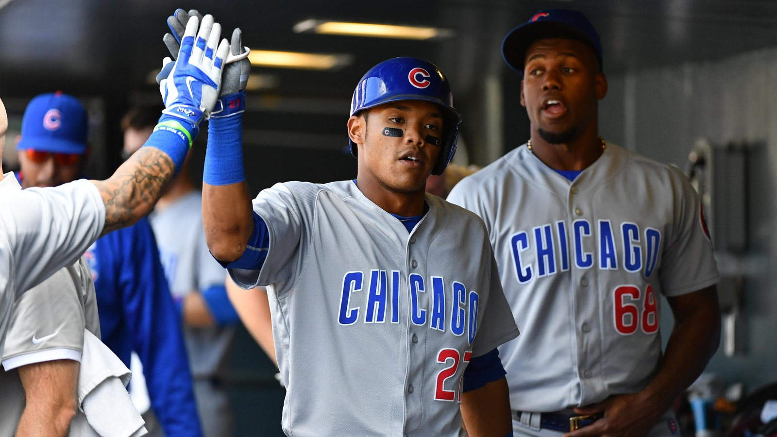 Addison Russell's catch caps Cubs' August success despite weary bullpen