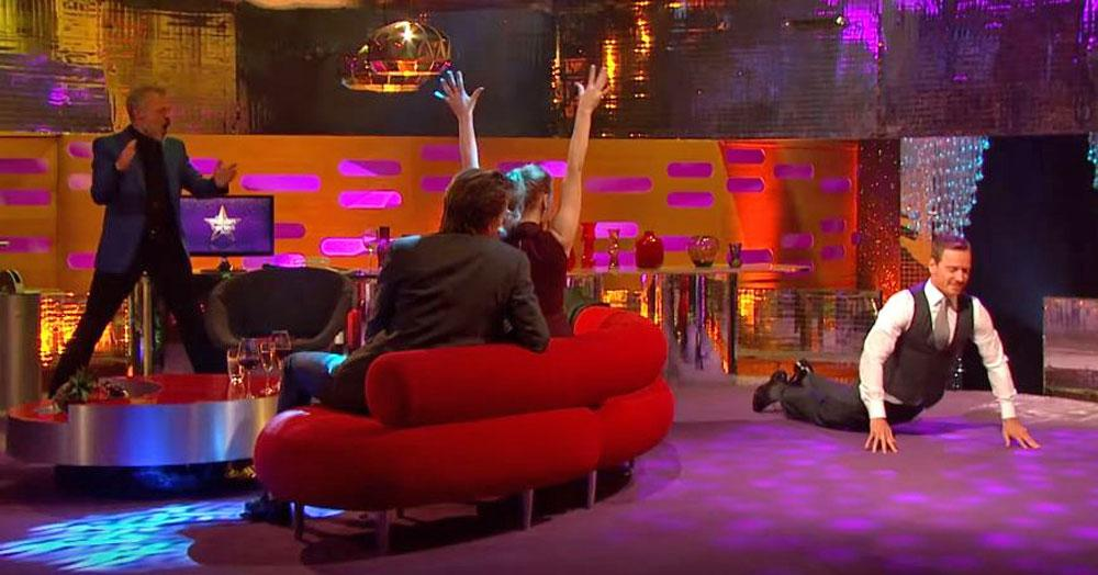 Michael Fassbender Does the Worm on        The Graham Norton Show