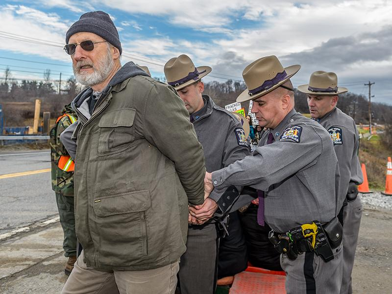 Actor James Cromwell Arrested During Power Plant Protest In