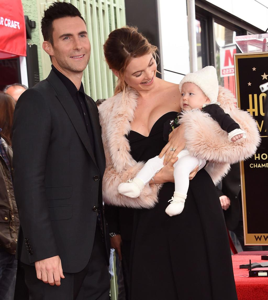Adam Levine Joined by Wife Behati and Daughter Dusty at Walk of Fame Ceremony:        I       'm One of the Luckiest People