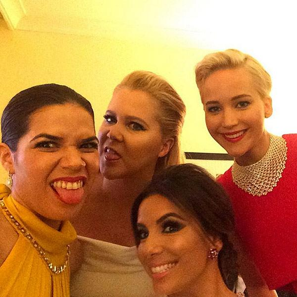America Ferrera Shares Silly Backstage Selfie with Fellow Go