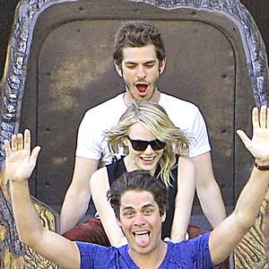 Andrew Garfield Describes Being High With Emma Stone and Friends at Disneyland: