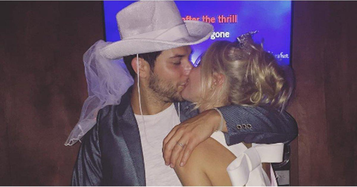 Anna Camp and Skylar Astin Celebrate Their Final Days of Being Single