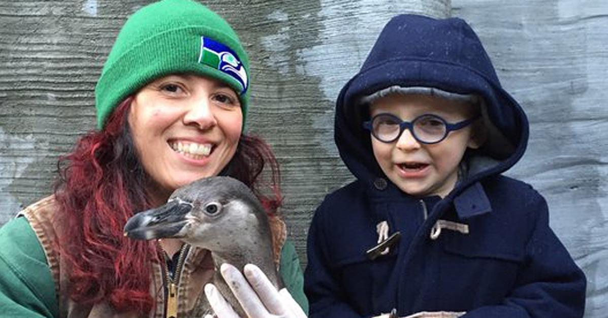 Anna Faris and Chris Pratt's Son Finally Meets the Penguin H