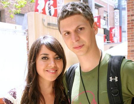 Aubrey Plaza and Michael Cera
