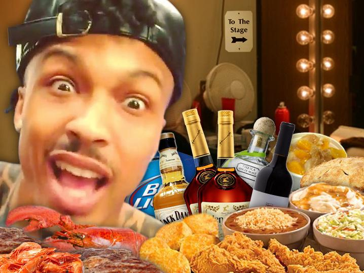 August Alsina -- I  'm Not Going Onstage Without Popeyes