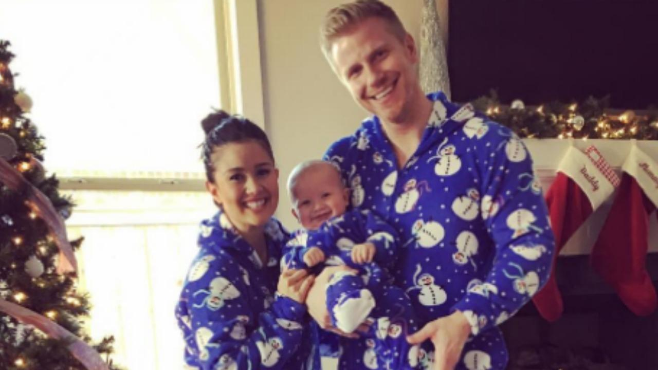 'Bachelor' Couple Sean and Catherine Lowe Proudly Rock Matching Pajamas With Son Sam