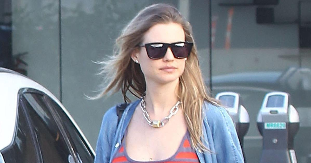 Behati Prinsloo Shows Off Her Growing Belly During a Lunch D