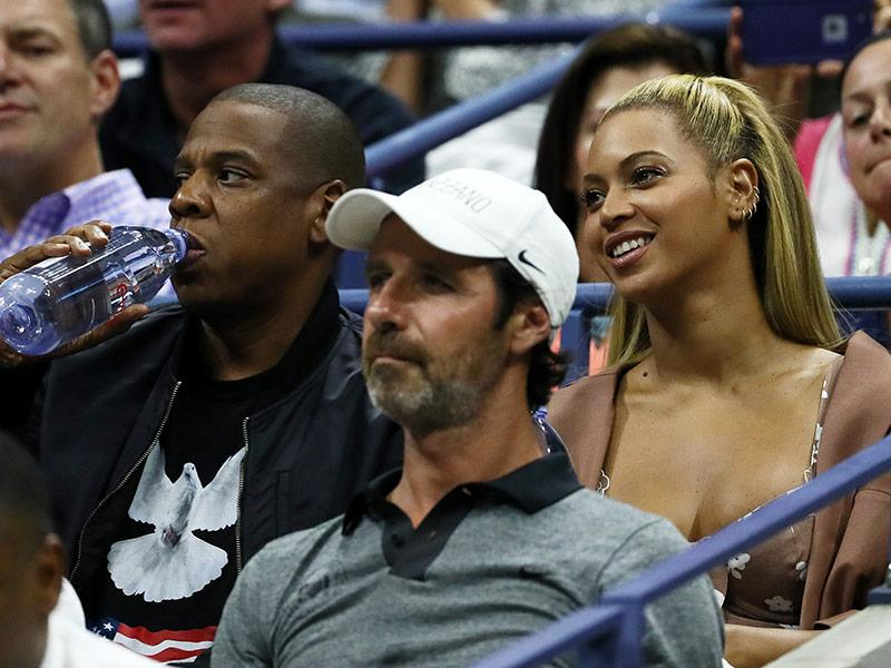 Beyonc'  and Jay Z Enjoy Date Night at U.S. Open Cheering on Pal Serena Williams
