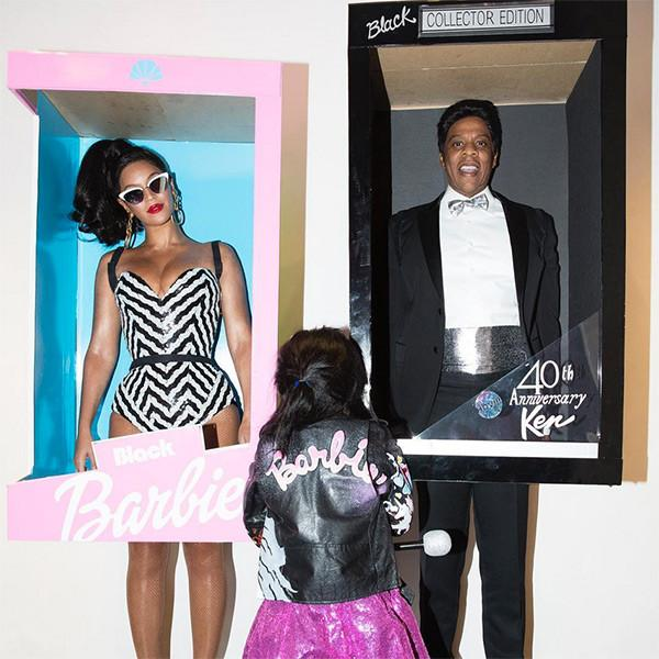 Beyonc   ', Jay Z and Blue Ivy Carter Dress Up as Barbie and Ken for Halloween