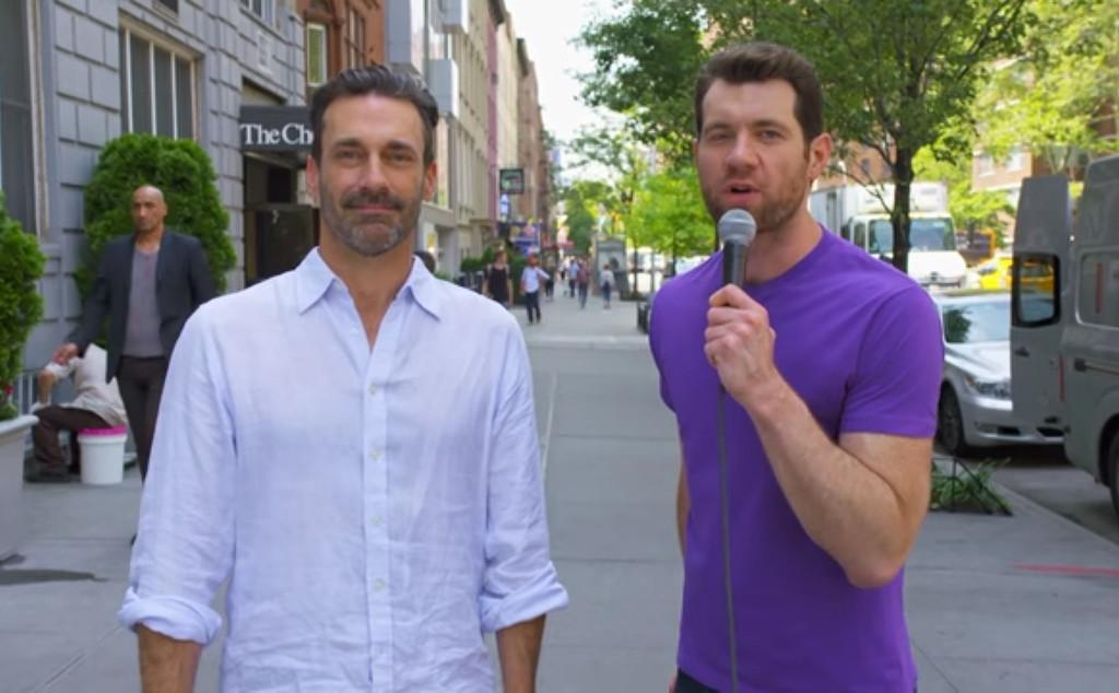 Billy On The Street      '  Returns, Pays Fans To Have A Threesome With Jon Hamm