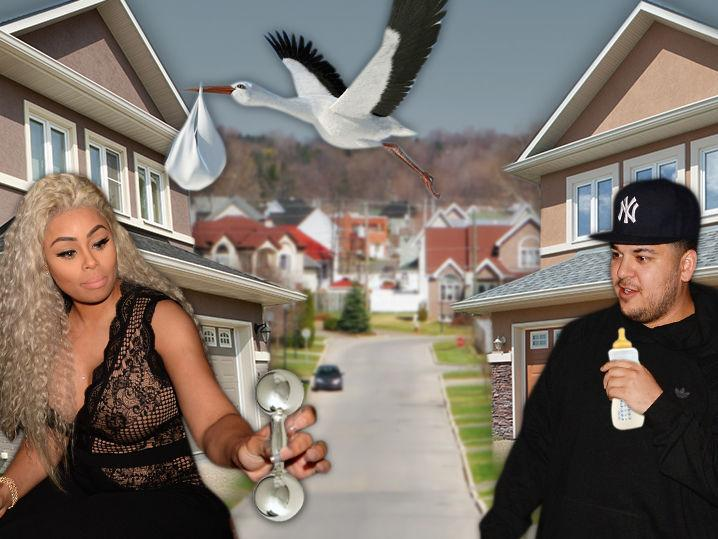 Blac Chyna -- Baby's Going to Her House ... and So Will Rob, For Now