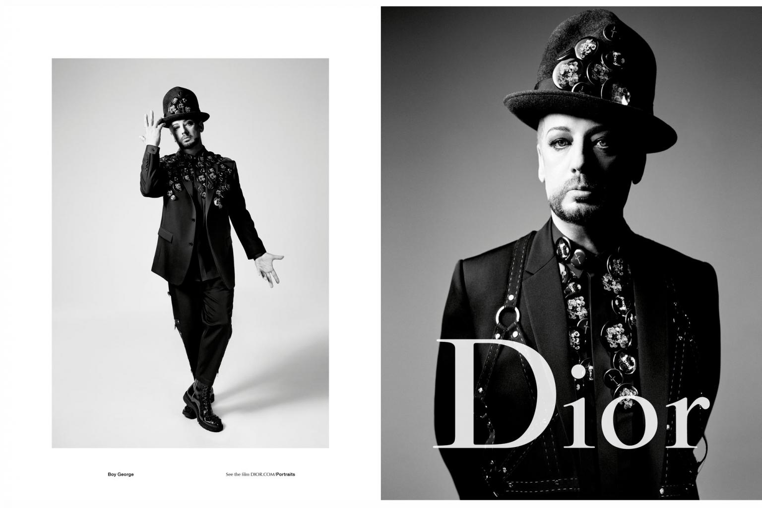 Boy George Stars As the New Face of Dior Homme       's Spring Campaign